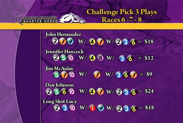PrM QH Challenge Pick 3
